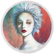 Sweet Love Remembered Round Beach Towel by Terry Webb Harshman