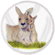 Kind Round Beach Towel by Phyllis Howard