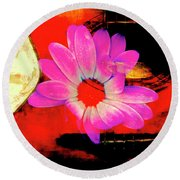 Round Beach Towel featuring the photograph Sweet Sound by Al Bourassa