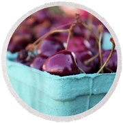 Sweet Summer Cherries Round Beach Towel by John S