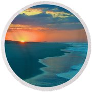 Round Beach Towel featuring the photograph Sweet Sunrise by  Newwwman