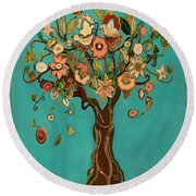 Sweet Tree Round Beach Towel