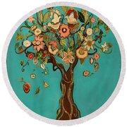 Sweet Tree Round Beach Towel by Carrie Joy Byrnes