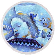 Sweetest Of Dreams Round Beach Towel by Linda Weinstock