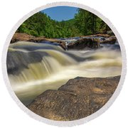 Sweetwater Creek Long Exposure 2 Round Beach Towel