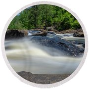 Sweetwater Creek Long Exposure Round Beach Towel
