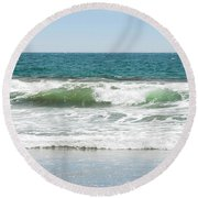 Swell Round Beach Towel by Donna Blackhall