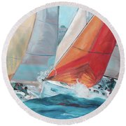 Swells Round Beach Towel