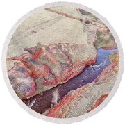swift creek at  Colorado foothills - aerial view Round Beach Towel