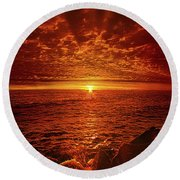 Round Beach Towel featuring the photograph Swiftly Flow The Days by Phil Koch