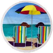 Swim Round Beach Towel