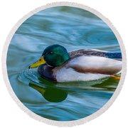 Swimming Duck Round Beach Towel