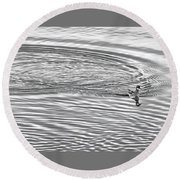 Swimming From Circles Round Beach Towel by Joe Bonita
