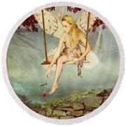Swing Fairy Round Beach Towel