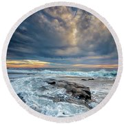 Swirl Round Beach Towel by Peter Tellone