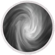 Round Beach Towel featuring the photograph Swirl Wave Iv by David Gordon