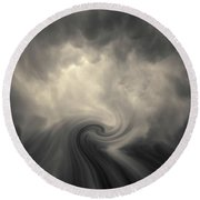 Round Beach Towel featuring the photograph Swirl Wave Vi Toned by David Gordon