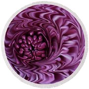 Round Beach Towel featuring the photograph Purple Mum Abstract by Glenn Gordon