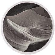 Swirled Rocks Tnt Round Beach Towel