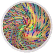 Swirligigs Round Beach Towel by Cathy Donohoue