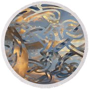 Swirling Celtic Sunset Round Beach Towel