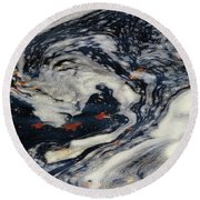 Swirling Current Round Beach Towel