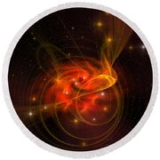 Swirling Galaxy Round Beach Towel