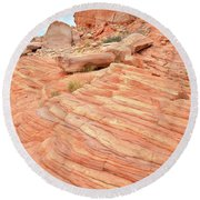 Round Beach Towel featuring the photograph Swirling Sandstone Color In Valley Of Fire by Ray Mathis