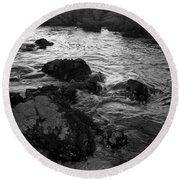 Swirling Tide Round Beach Towel