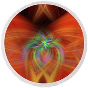 Swirly Twirls Round Beach Towel by Cathy Donohoue