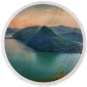 Round Beach Towel featuring the photograph Swiss Rio by Hanny Heim