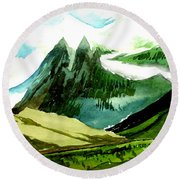 Switzerland Round Beach Towel