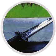 Sword Of Protection  Round Beach Towel