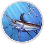 Swordfish In Freedom Round Beach Towel