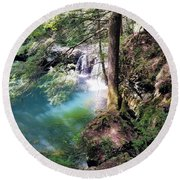 Sycamore Falls Round Beach Towel