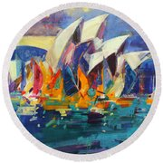 Sydney Flying Colours Round Beach Towel