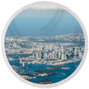 Round Beach Towel featuring the photograph Sydney From The Air by Parker Cunningham