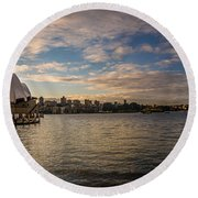 Round Beach Towel featuring the photograph Sydney Harbor by Andrew Matwijec