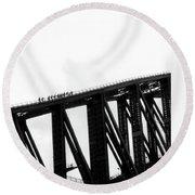 Sydney Harbour Bridge Round Beach Towel