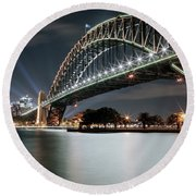 Sydney Harbour Lights Round Beach Towel