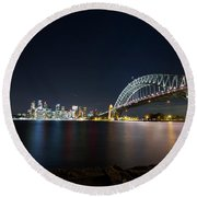 Sydney Harbour Silk Round Beach Towel
