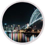 Sydney Harbour Sparkle Round Beach Towel