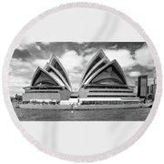 Sydney Opera House No. 1-1 Round Beach Towel by Sandy Taylor