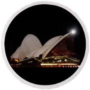 Round Beach Towel featuring the photograph Sydney Opera House Close View 2 By Kaye Menner by Kaye Menner