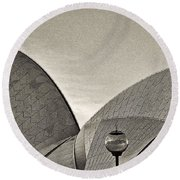 Sydney Opera House Roof Detail Round Beach Towel