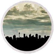 Sydney Skyline Round Beach Towel