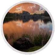 Round Beach Towel featuring the photograph Sylvan Lake by Gary Lengyel