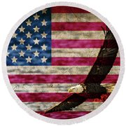 Symbol Of Freedom Round Beach Towel