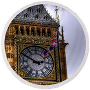 Symbols Of London Round Beach Towel