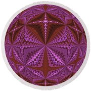 Symmetrical Pattern, Kaleidoscope Round Beach Towel